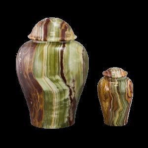 Onyx Vase - Tan/Rust/Green/White Onyx Vase (Adult)