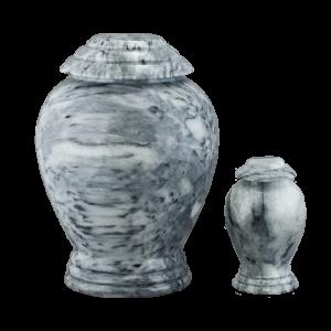 Grey/White Marble Vase - Gray/White Marble Vase with Base (Adult)