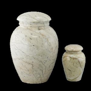 Grecian Travertine - Creme/Tan/Rose Vase (Adult)