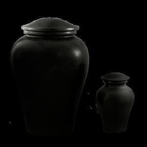 Arno Black Marble - Black Marble Vase (Adult)