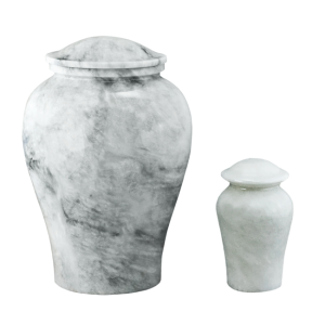 Arno White Marble - White/Gray Marble Vase (Adult)
