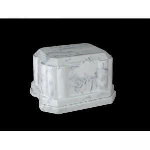 Vanguard - White Marble Urn Vault for Cremation Ashes