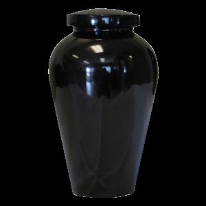 Athenian Black Epoxy Finish Pet/Child Urn