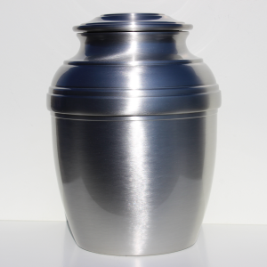 Calypso Large Pewter Creamation Plain Urn 601