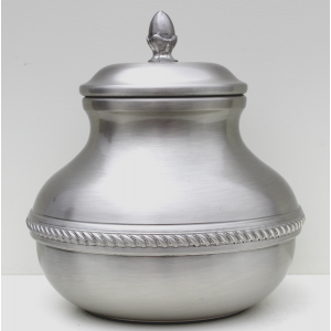 Odyssey Pewter Pet Creamation Plain Urn 602