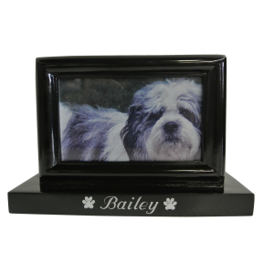 Photo Pet Urn - Black Finish