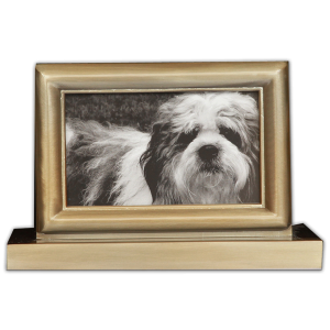 Photo Pet Urn - Antique Bronze