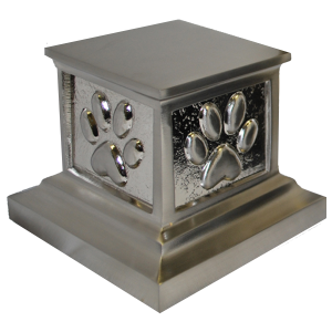 Roman Paws - Brushed Nickel Pet Urn