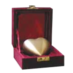 Brass Heart Keepsake Urn - Bronze