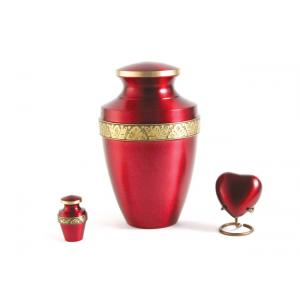Grecian Crimson Adult Urn
