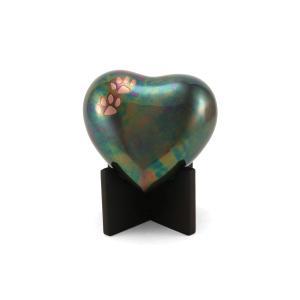 Arielle Heart Paw Raku Pet Urn