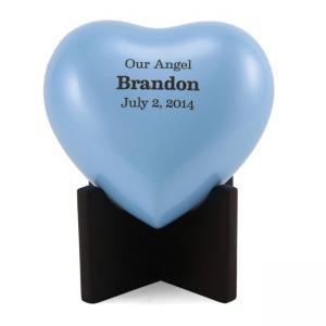Arielle Heart Urn, Pearl Blue