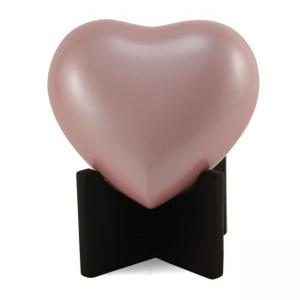 Arielle Heart Urn, Pearl Pink
