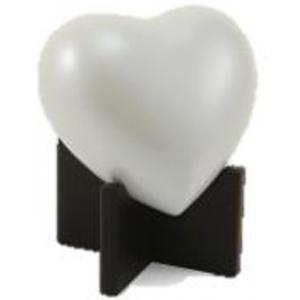 Arielle Heart Urn, Pearl White