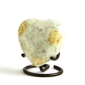 Gleenwood White Marble Heart Keepsake