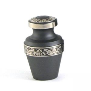 Grecian Rustic Pewter 6 Keepsake with Velvet Box