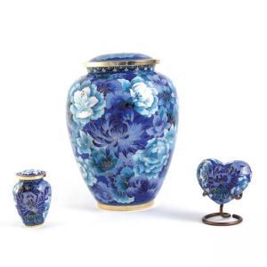 Floral Blue Elite Adult Urn