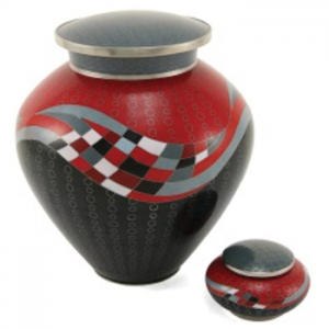 Opulence Red Adult Urn