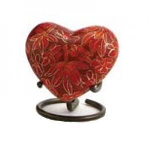Etienne Autumn Leaves Heart Keepsake w/ Velvet Box