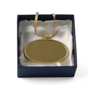 Golden Oval Urn Pendant