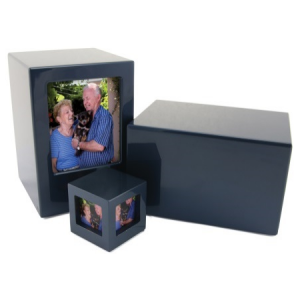 Somerset Blue Large/Adult Picture Box Urn