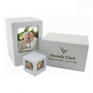 Somerset White Large/Adult Picture Box Urn