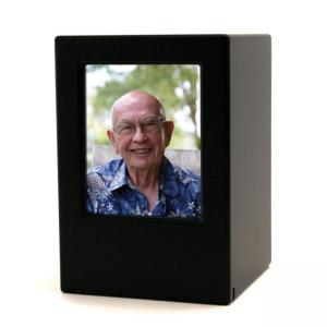 Adult MDF Black Photo Box Urn