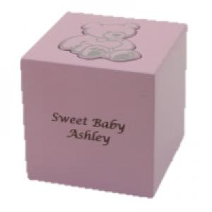 Teddy Bear Box Pink Urn