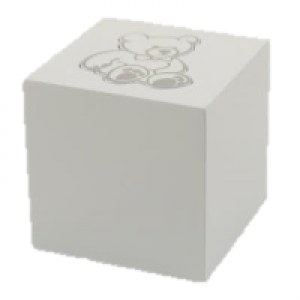 Teddy Bear Box White Urn