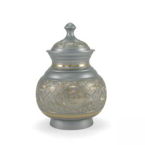 Silver Engraved Medium Pet Urn