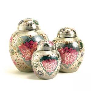 Lotus Heart Medium Pet Urn