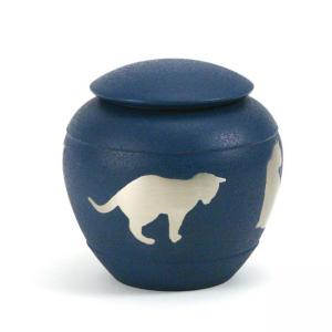 Country Blue Silhouette Cat Urn