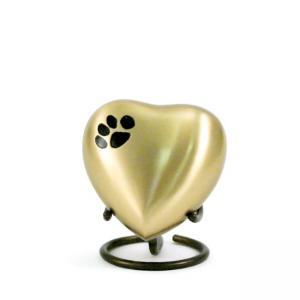 Classic Paws Bronze Heart Keepsake