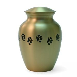 Classic Paws Bronze Small Pet Urn