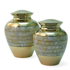 Mother of Pearl Elite Medium Pet Urn
