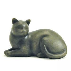 Cozy Cat Sable Pet Urn, (resin)