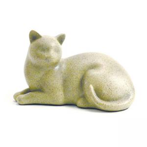 Cozy Cat Fawn Pet Urn, (resin)