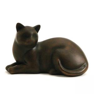 Cozy Cat Tabby Pet Urn, (resin)