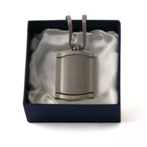 Silvertone Frame Urn Pendant