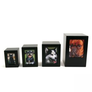 MDF Black Photo Small Pet Urn