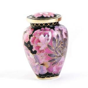 Floral Blush Elite 4 Individual Keepsake Urns w/ Velvet Box