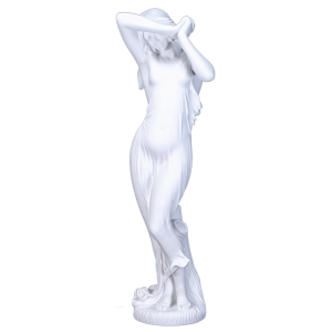Shy One - Sculpted Female, Draped on Pedestal