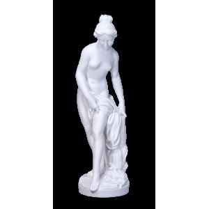 Delicately - Sculpted Female, Draped on Pedestal