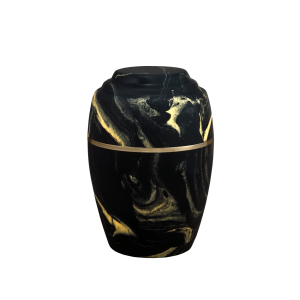 Serenity II - Vase, Black with Gold Vein (Adult)