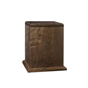 Treasure - Vertical Walnut Rectangle with Base (Adult)
