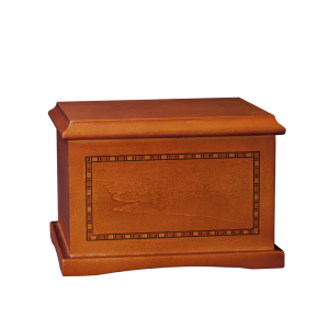 Medallion – Cherry Hardwood Urn w/Inlay (Adult)