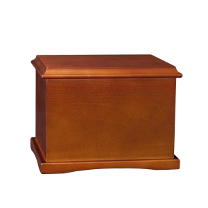 Coronet – Cherry Hardwood Urn (Adult)