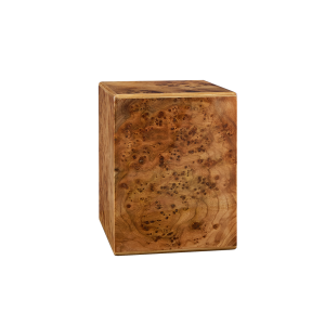 Elise I - Vertical Cube with Piano Finish Elm Burl (Adult)