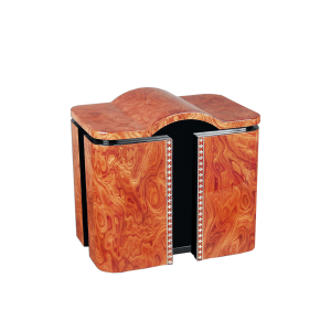 Monte Carlo -High Gloss Elm Burl with Hand Finished Black Lacquer