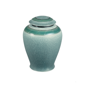 Verde - Handmade Vase Textured Green with Band
